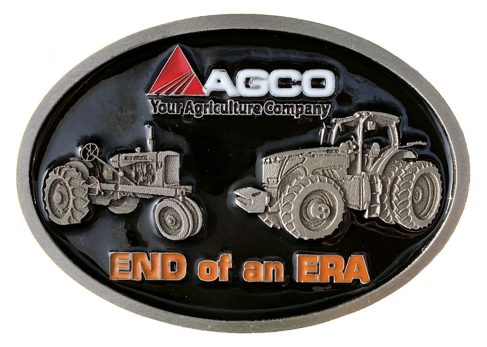 Agco End of an Era Belt Buckle