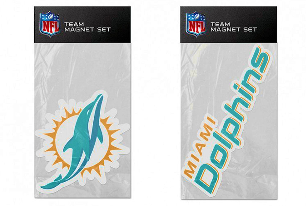 Miami Dolphins Fridge Magnet Set