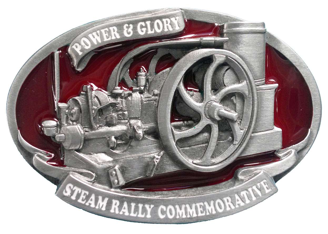 Stationery Engine Steam Rally Belt Buckle