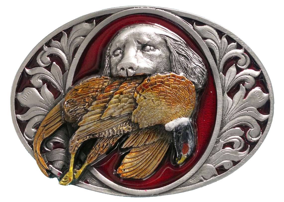 Dog & Pheasant Belt Buckle