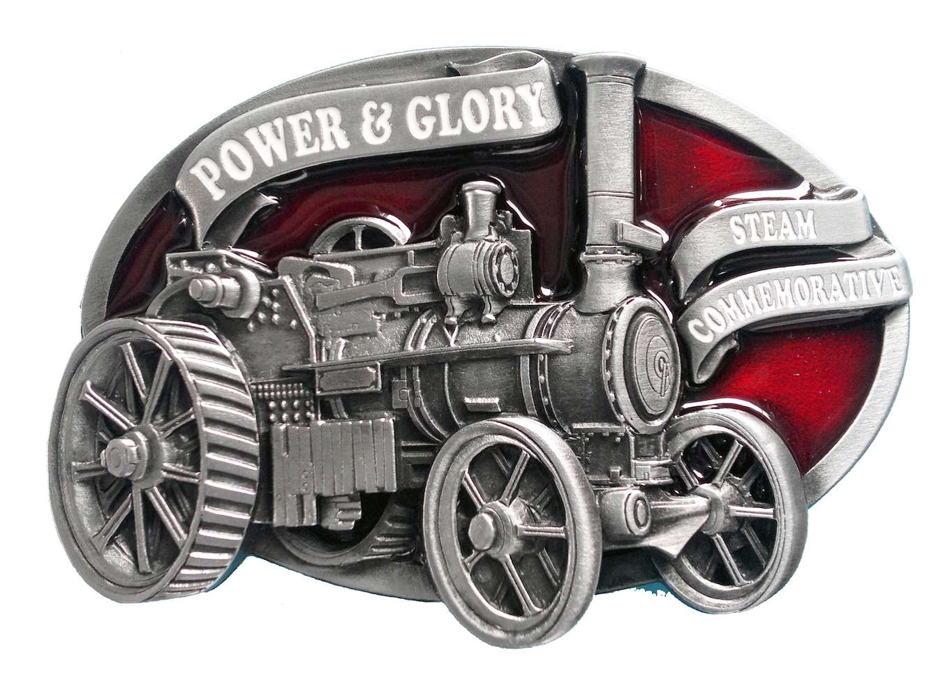 Traction Engine Commemorative Belt Buckle