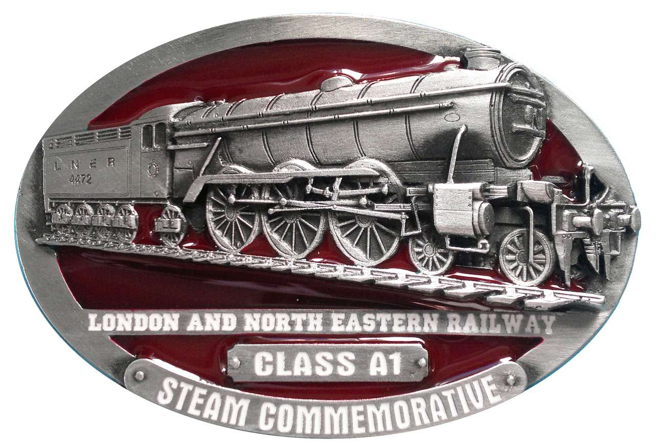 L.N.E.R. A1 Steam Train Belt Buckle
