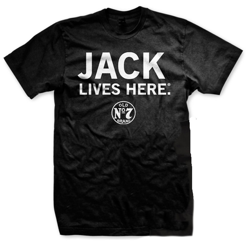 Jack Daniels Jack Lives Here T-Shirt