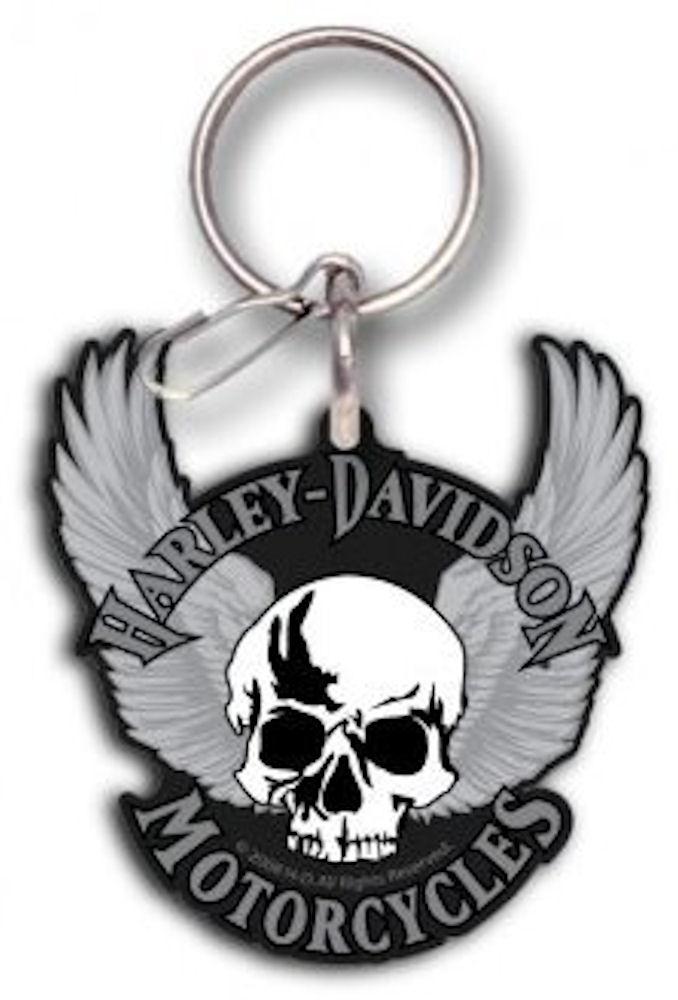 Harley Davidson Skull Rubber Key Chain