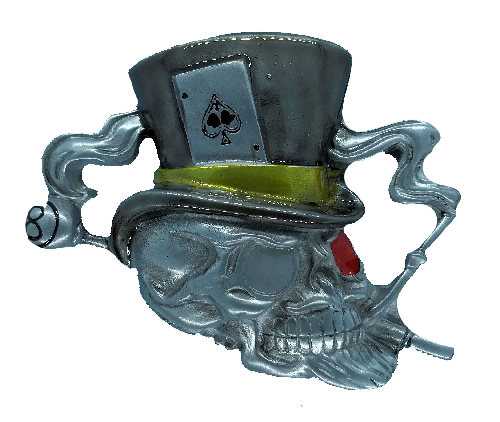 Skull With Black Top Hat
