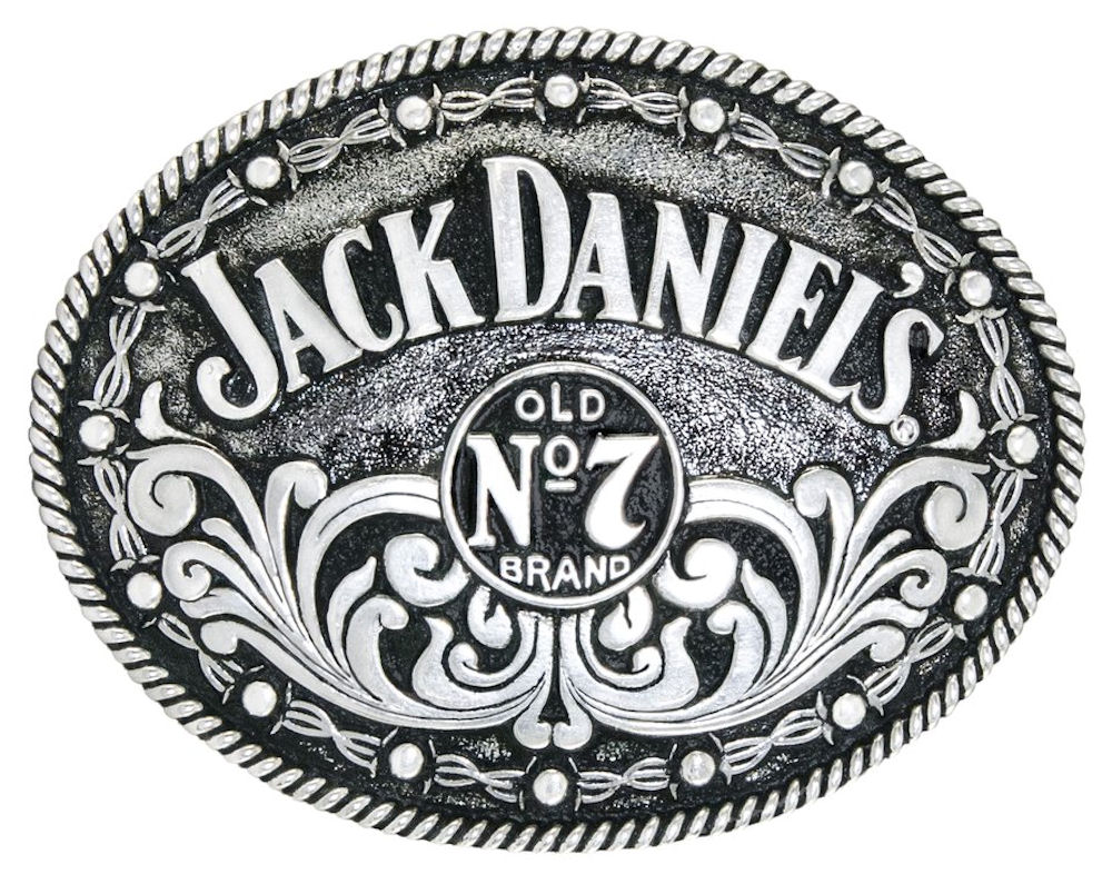 Jack Daniels Oval No.7 Filigree Buckle