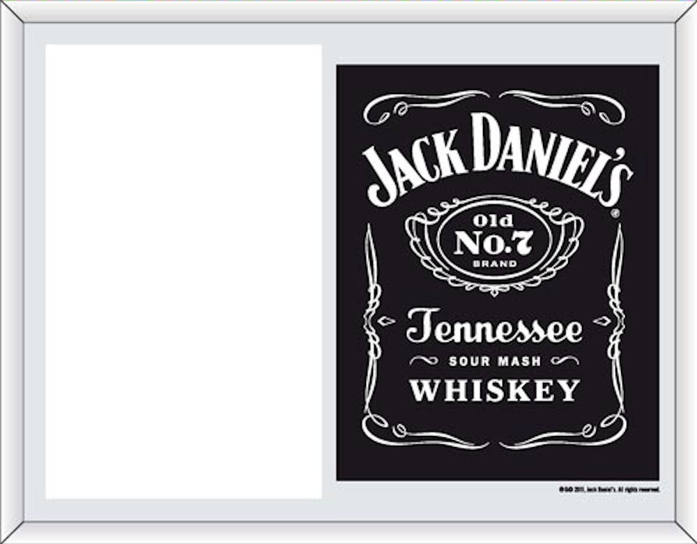 Jack Daniels Antique Label Picture Frame