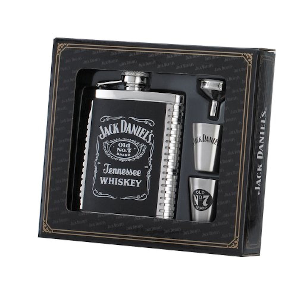Jack Daniels Flask/Shots/Funnel Gift Set