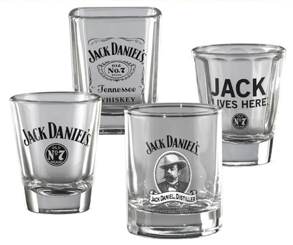 Jack Daniels Set Of 4 Shot Glasses