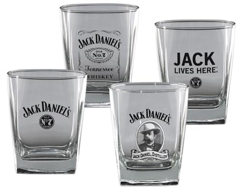 Jack Daniels Set Of 4 DOF Glasses