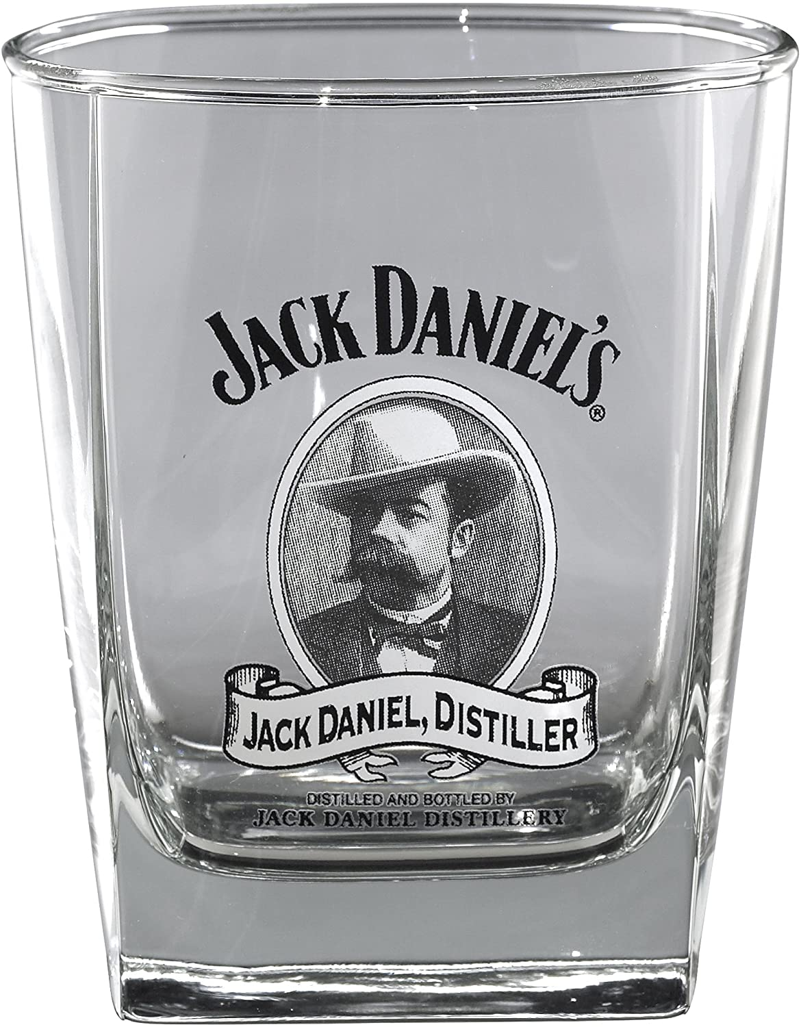 Jack Daniels Licensed Barware Cameo Double Old Fashioned Glass