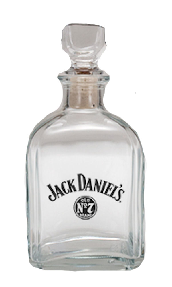 Jack Daniels Logo Glass Decanter