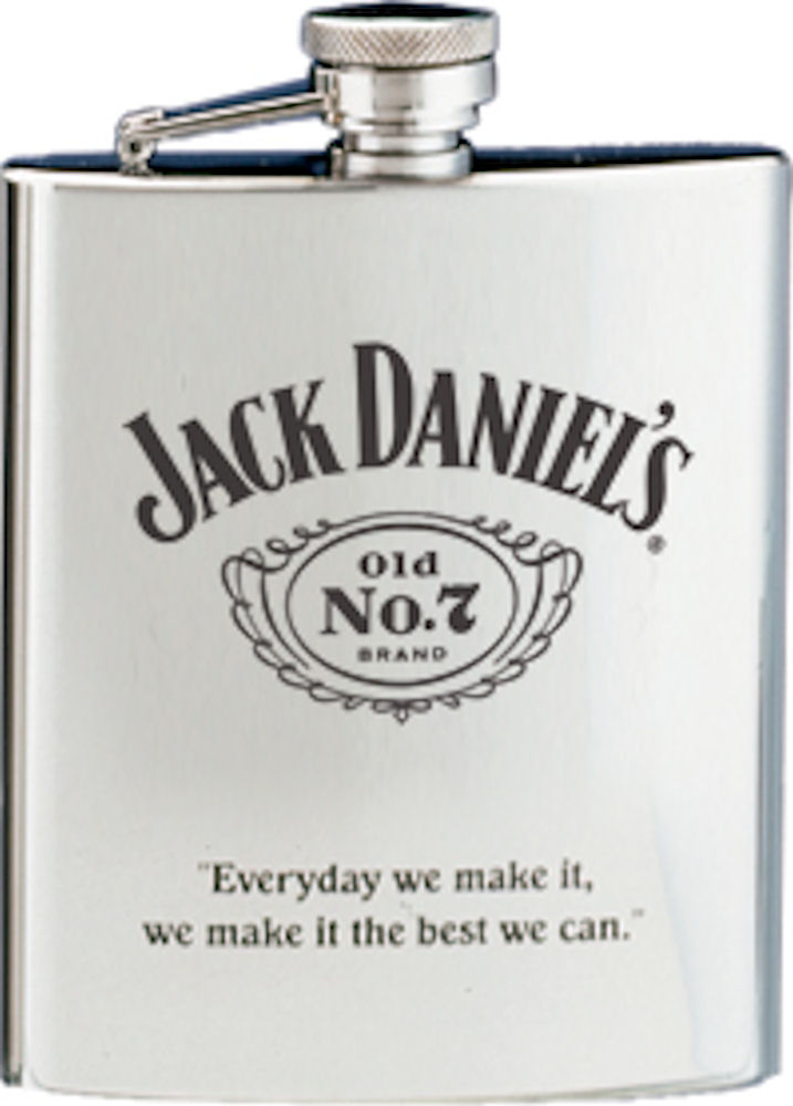 Jack Daniels SS Flask W/Black Old NO.7