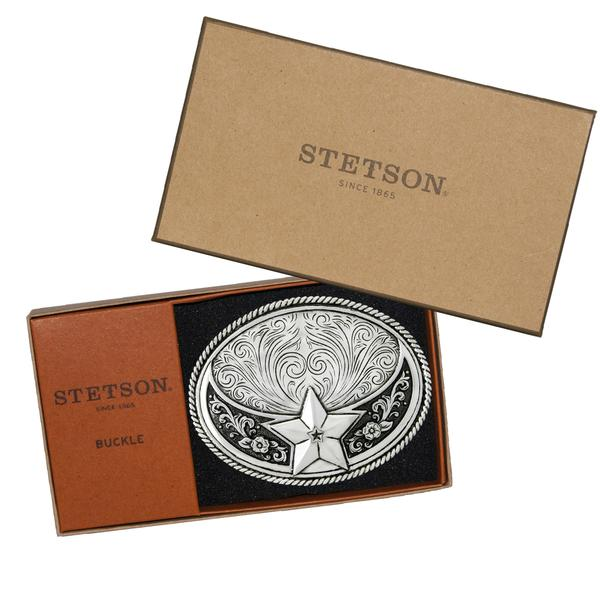 Stetson Silver Plated Star Buckle