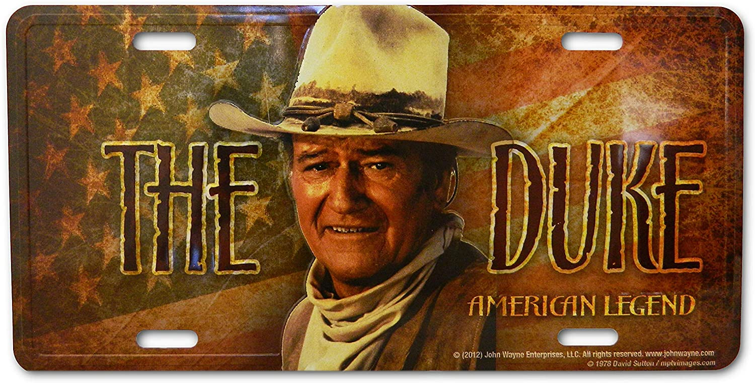 License Plate John Wayne The Duke
