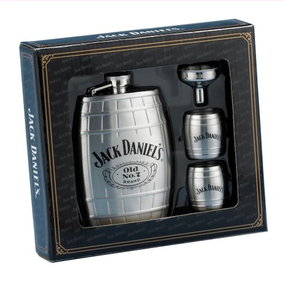 Jack Daniels Barrel Flask Gift Set