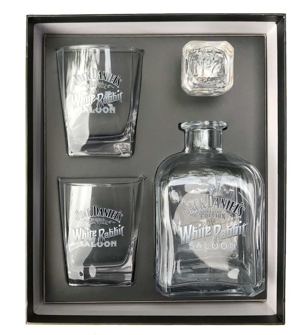 Jack Daniels Decanter/2 DOF Set White Rabbit Saloon
