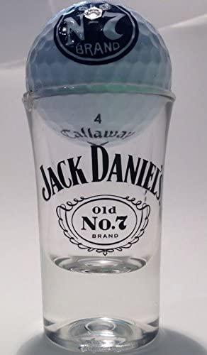 JACK DANIELS Shot Glass with Golf Ball