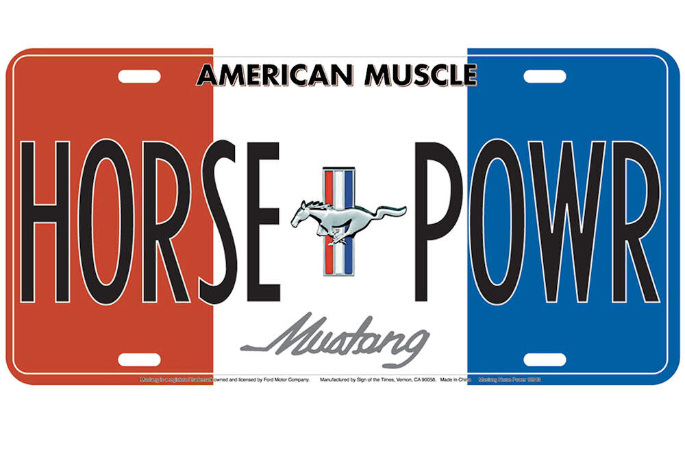 Mustang Horse Powr License Plate
