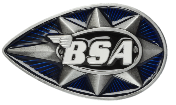 BSA Teardrop ( Blue & Black) Belt Buckle