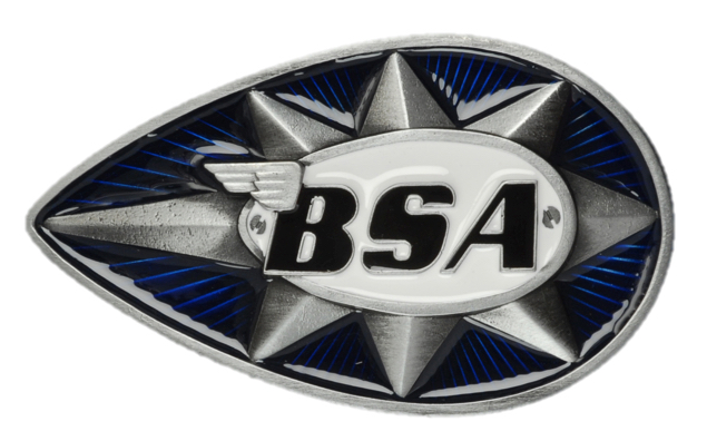 BSA Teardrop Star (Blue/White) Belt Buckle