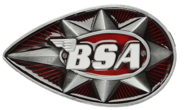 BSA Teardrop Star (Red) Belt Buckle