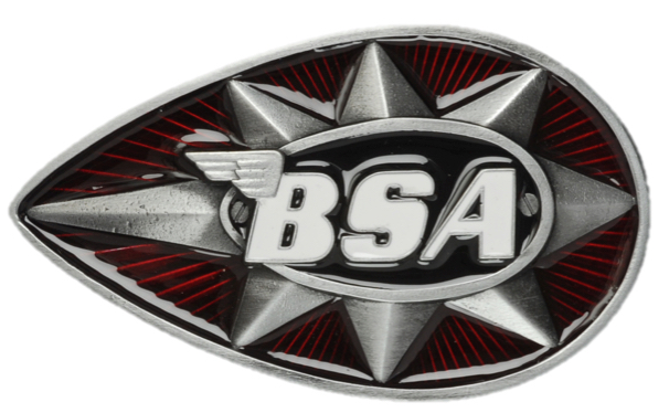BSA Teardrop Star (Red/Black) Belt Buckle