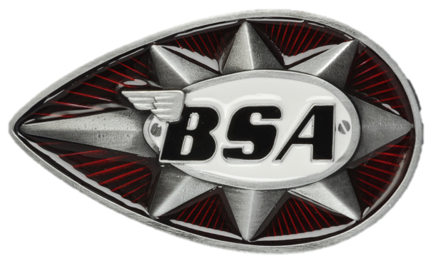 BSA Teardrop Star (Red/White) Belt Buckle