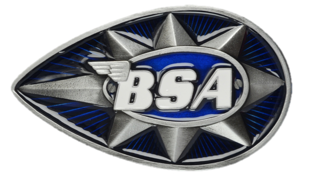 BSA Teardrop Blue Officially Licensed Belt Buckle