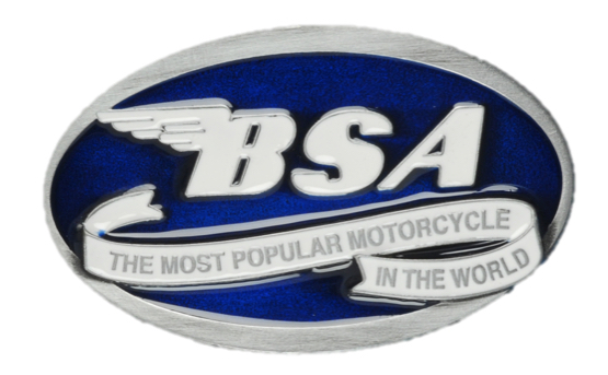 BSA Oval Scroll (Blue) Belt buckle