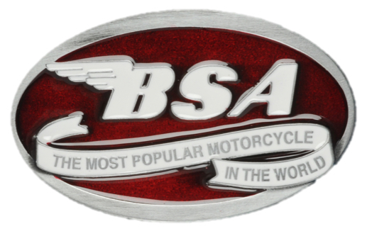 BSA Oval Scroll (Dark Red) Belt Buckle