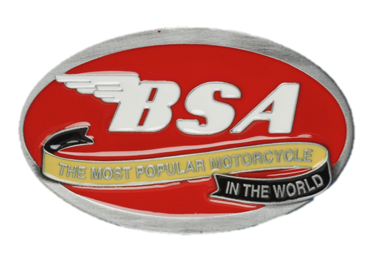 BSA Oval Scroll (Red) Belt Buckle