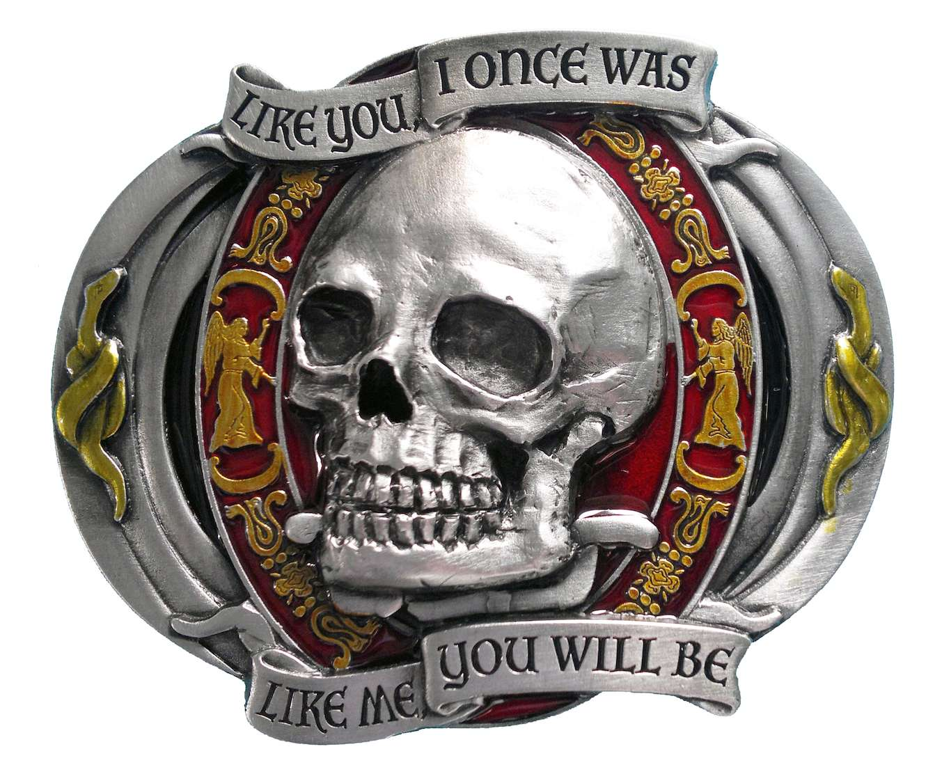 Like You I once Was Skull Belt Buckle