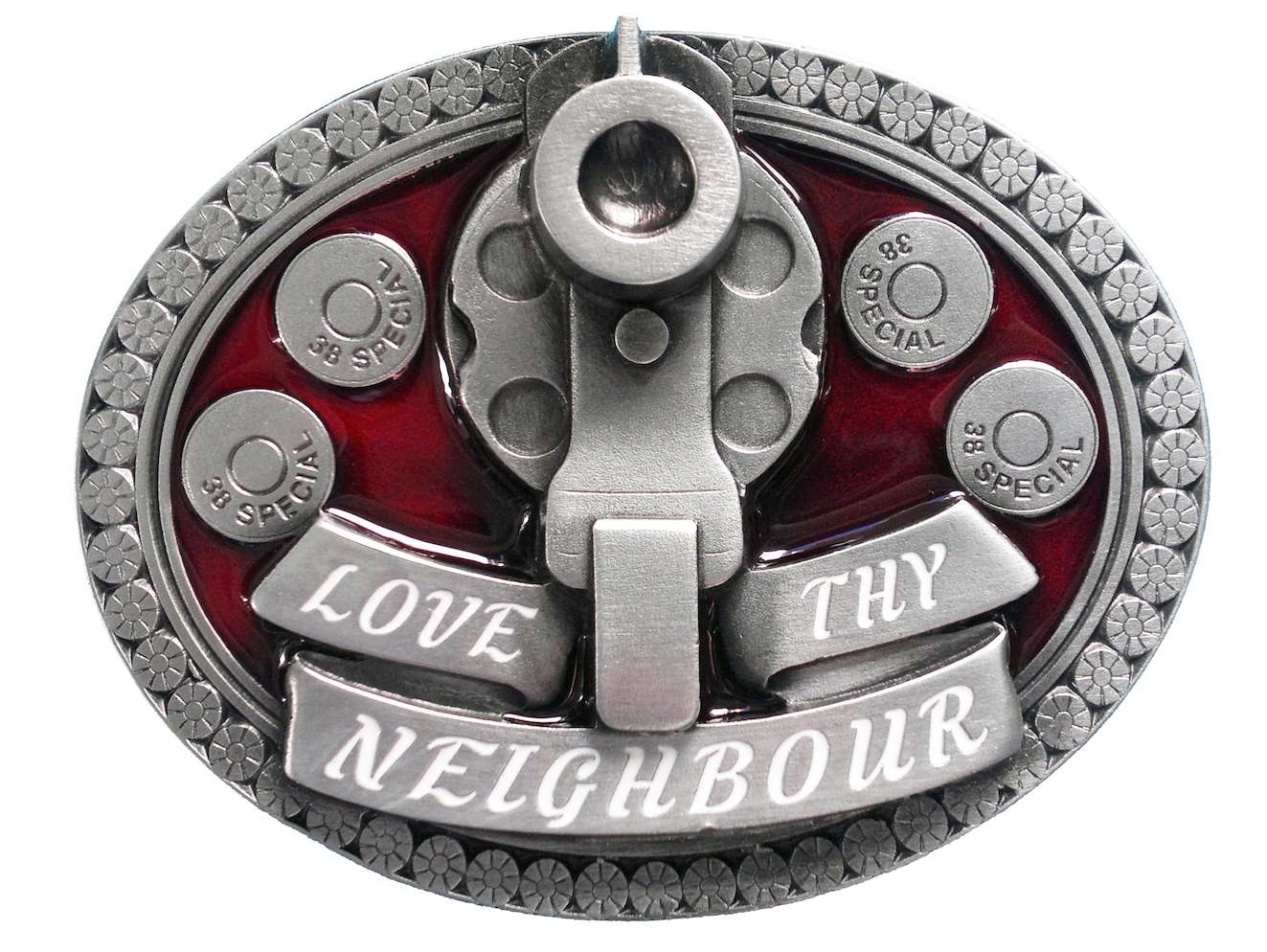 Love Thy Neighbour Belt Buckle