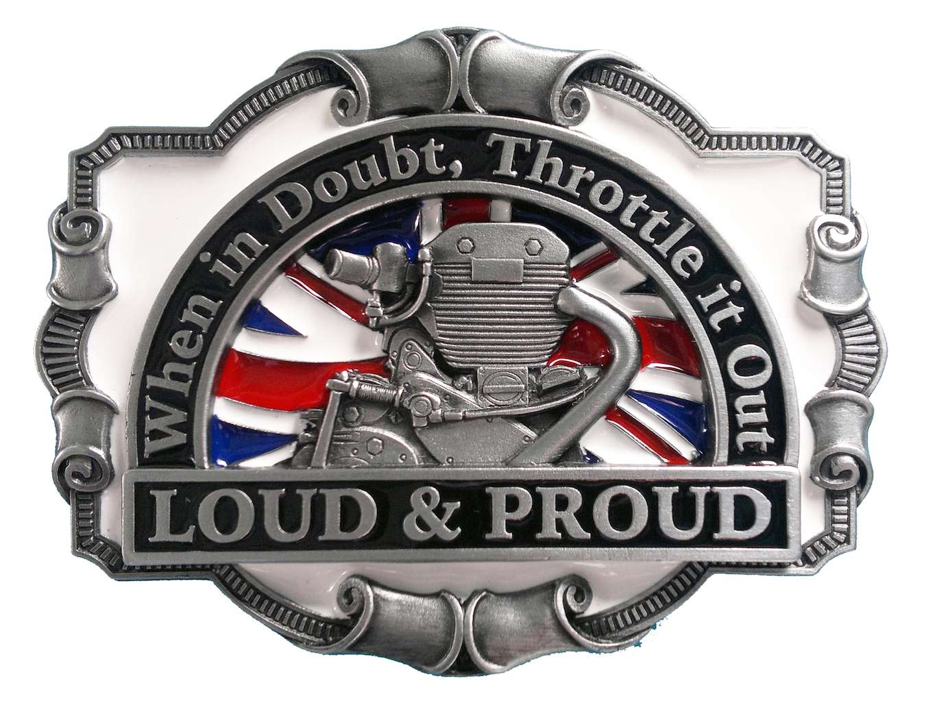 Loud & Proud Biker Belt Buckle