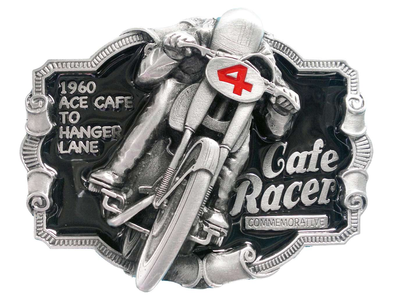 Cafe Racer Commerative Biker Belt Buckle