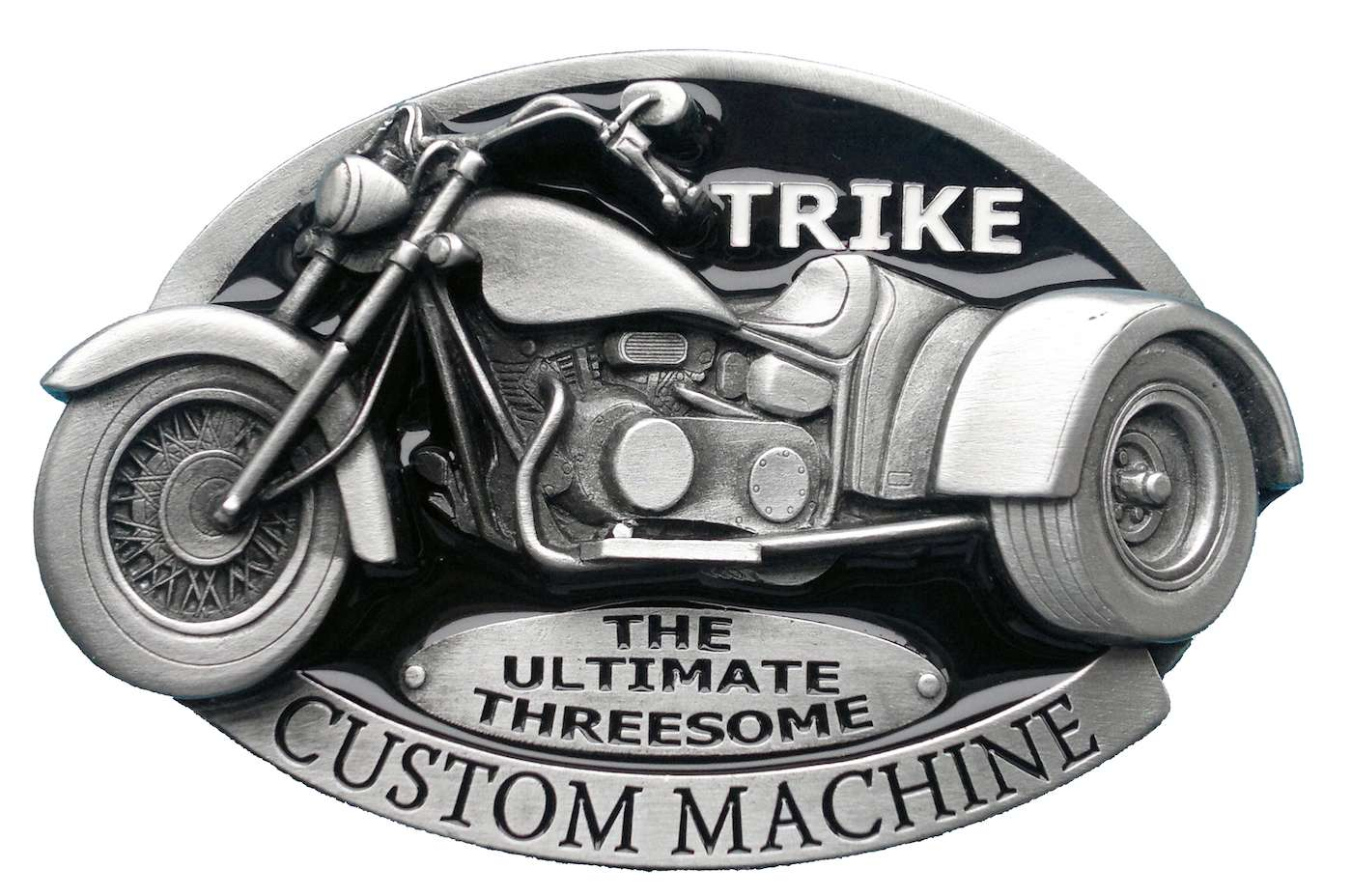 Trike Custom Machine Black Belt Buckle
