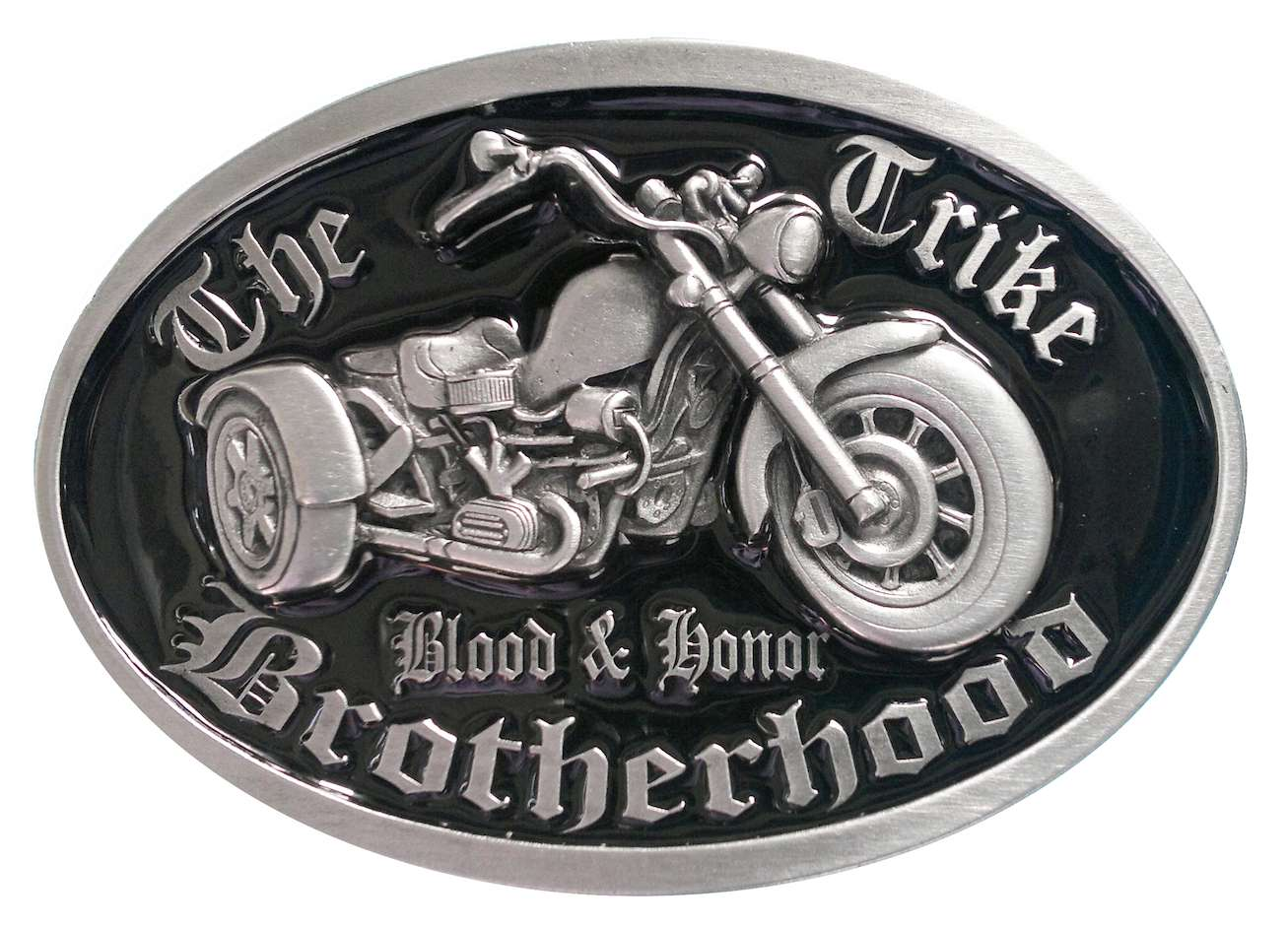 Trike Brotherhood Black Biker Belt Buckle