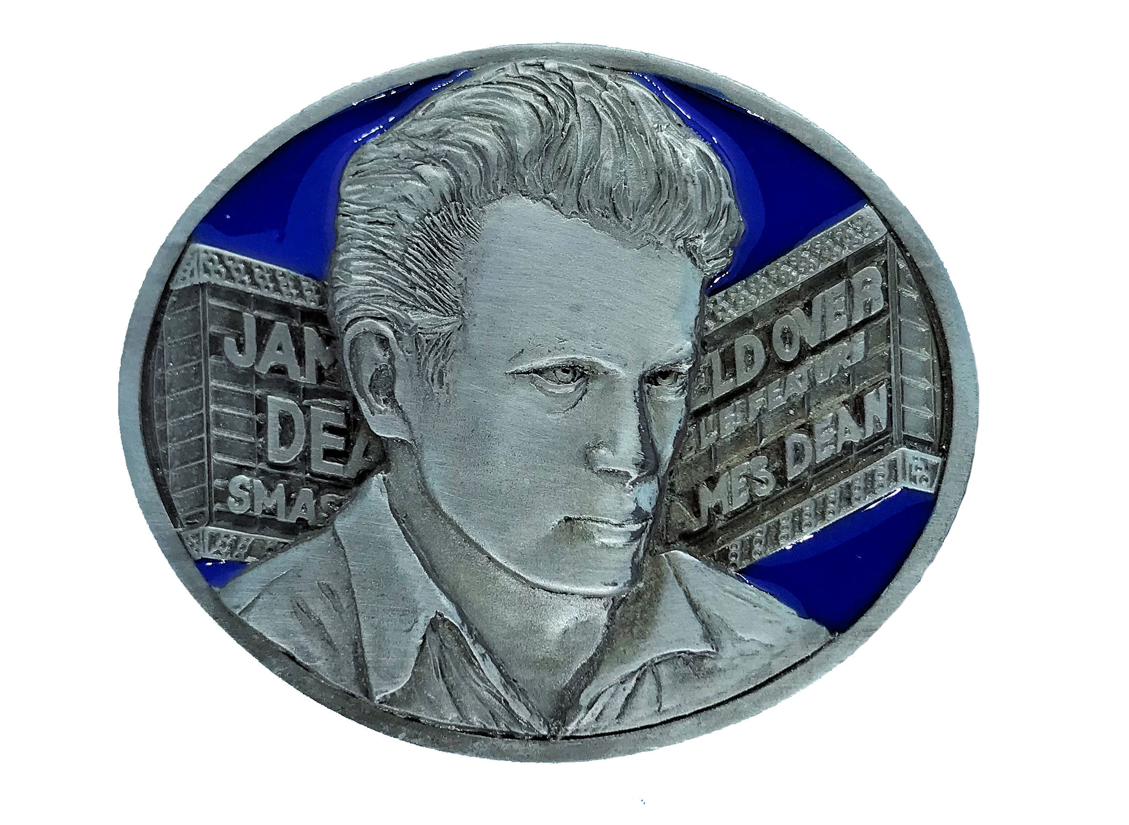 James Dean - Marquee Blue Belt Buckle