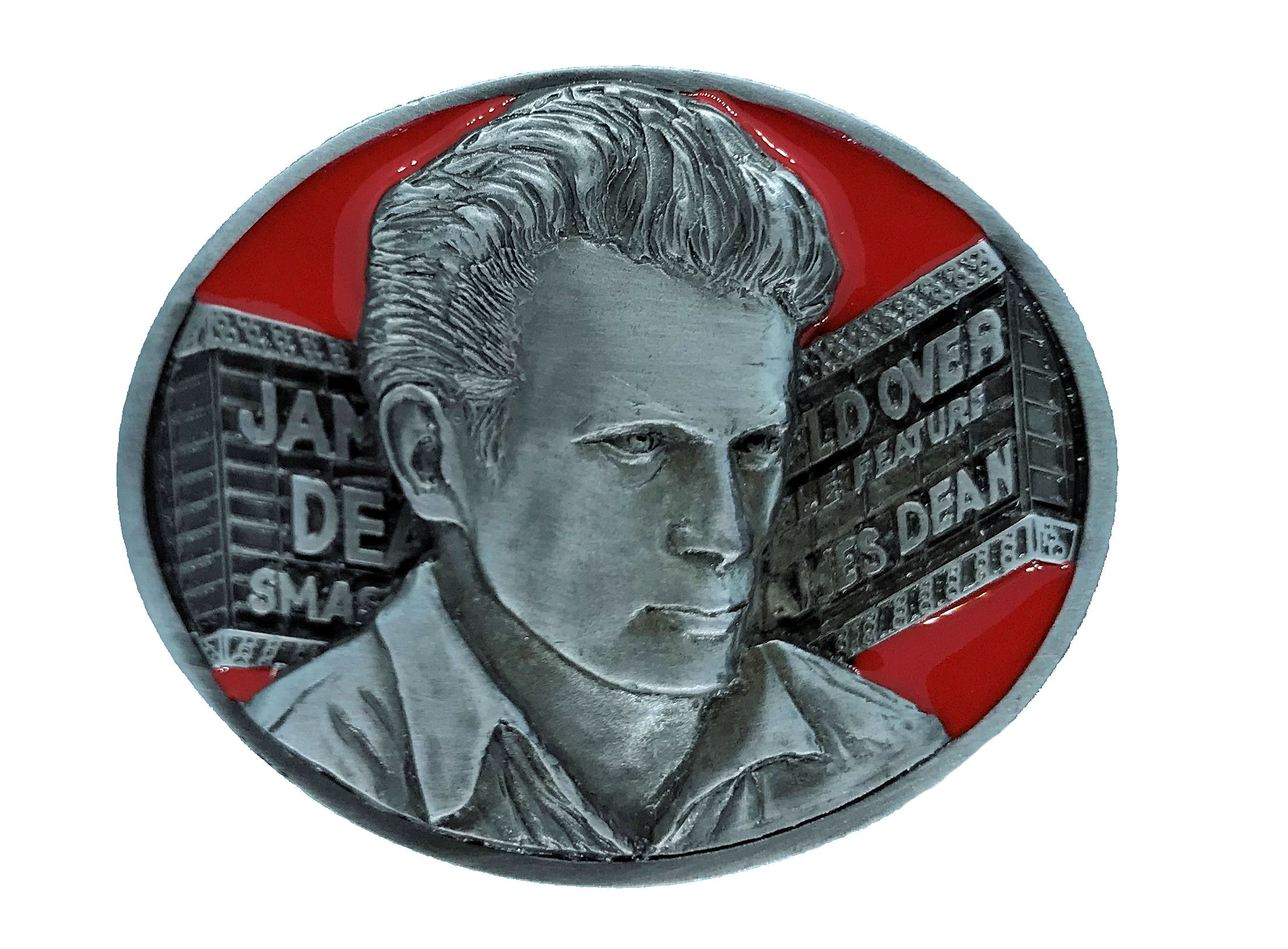 James Dean - Marquee Red Belt Buckle