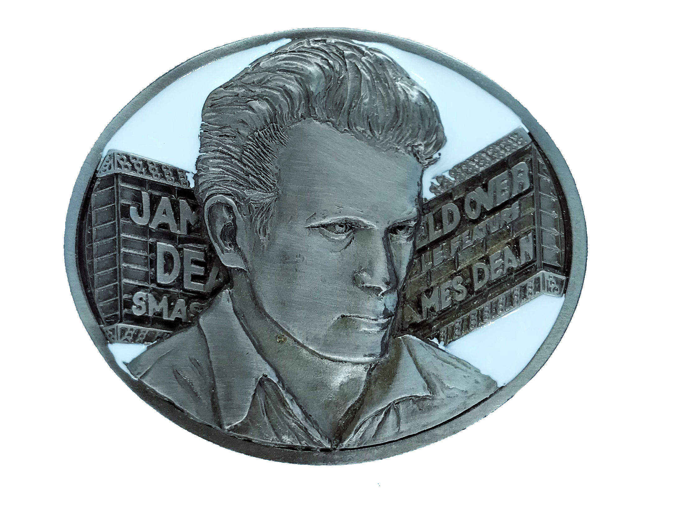 James Dean - Marquee White Belt Buckle