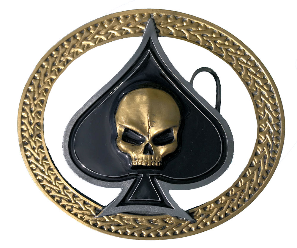 Skull & Ace Black & Gold