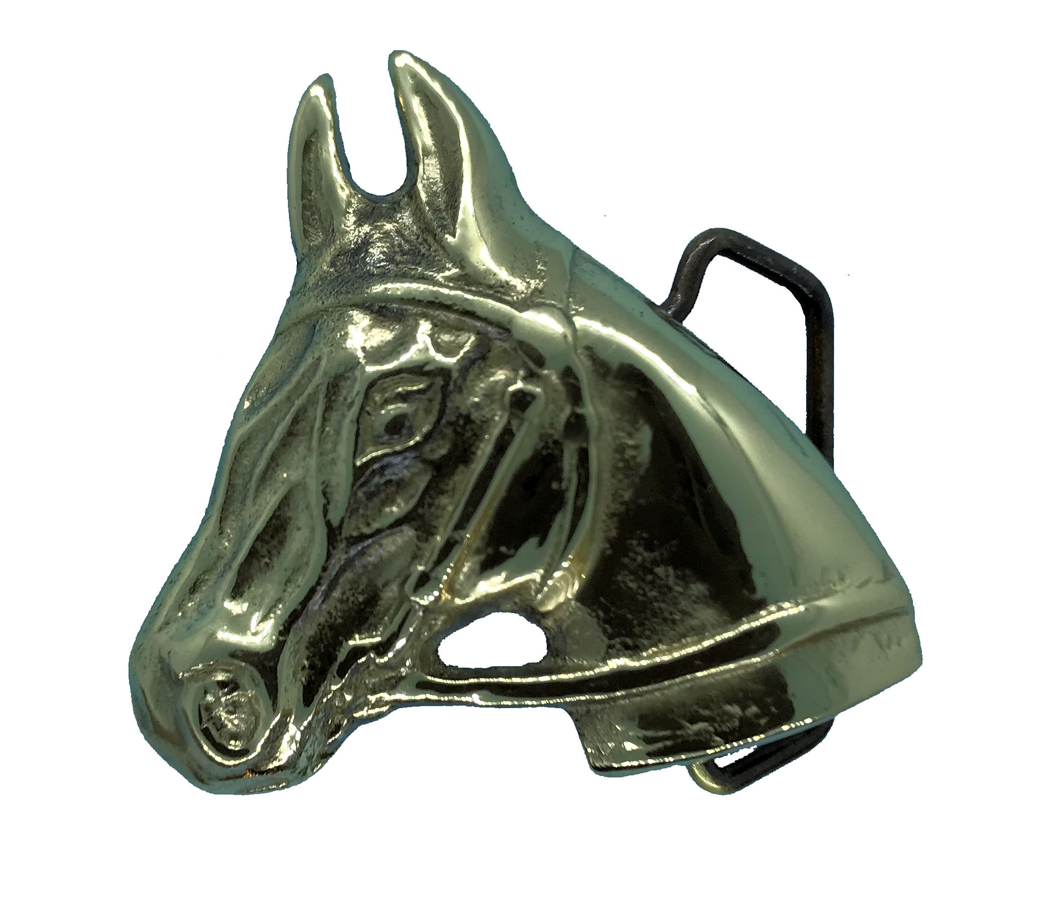 Horse Head Brass Buckle