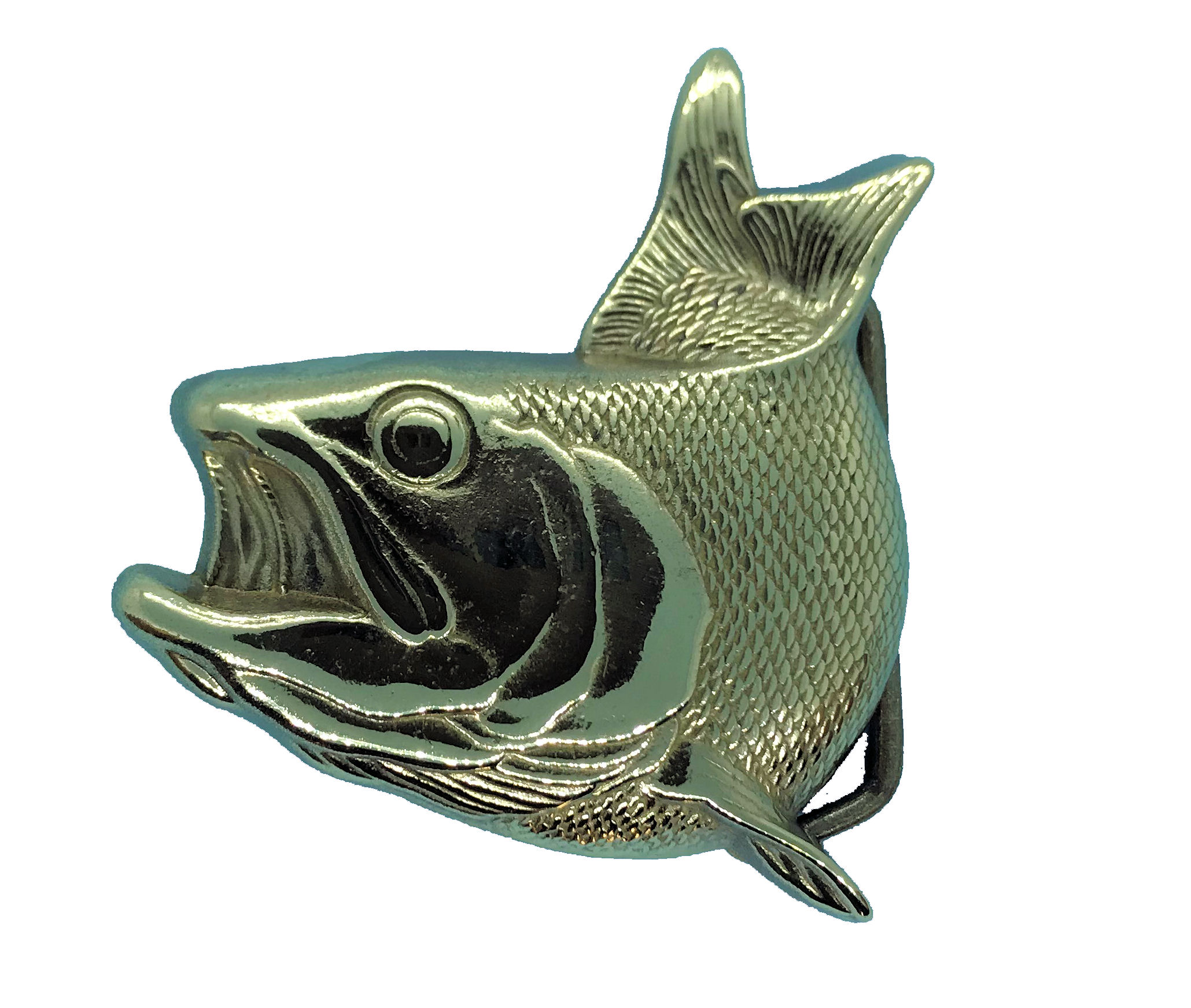 Fish Brass Buckle