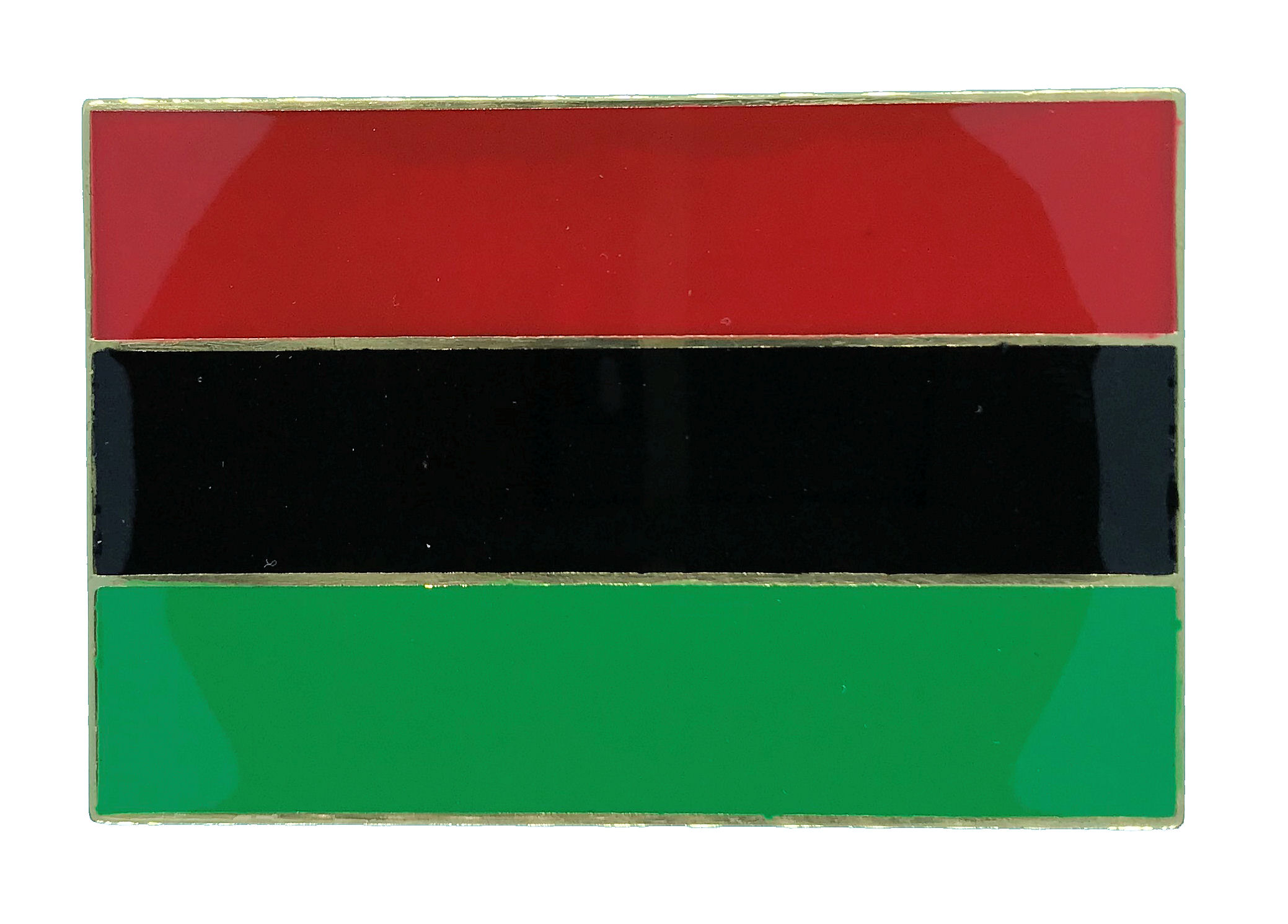 African-American Flag Brass Buckle
