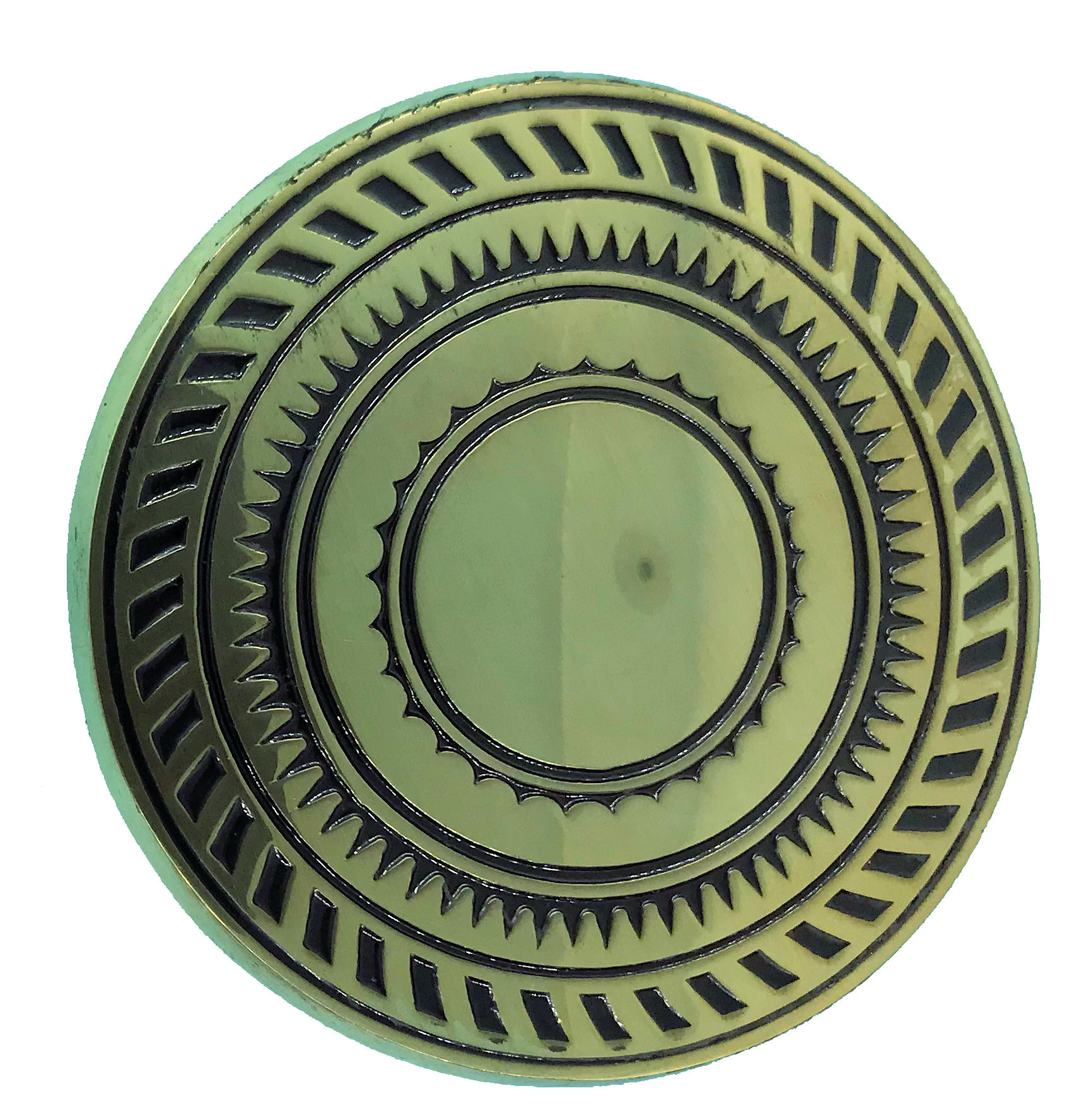 Round Design Brass Buckle
