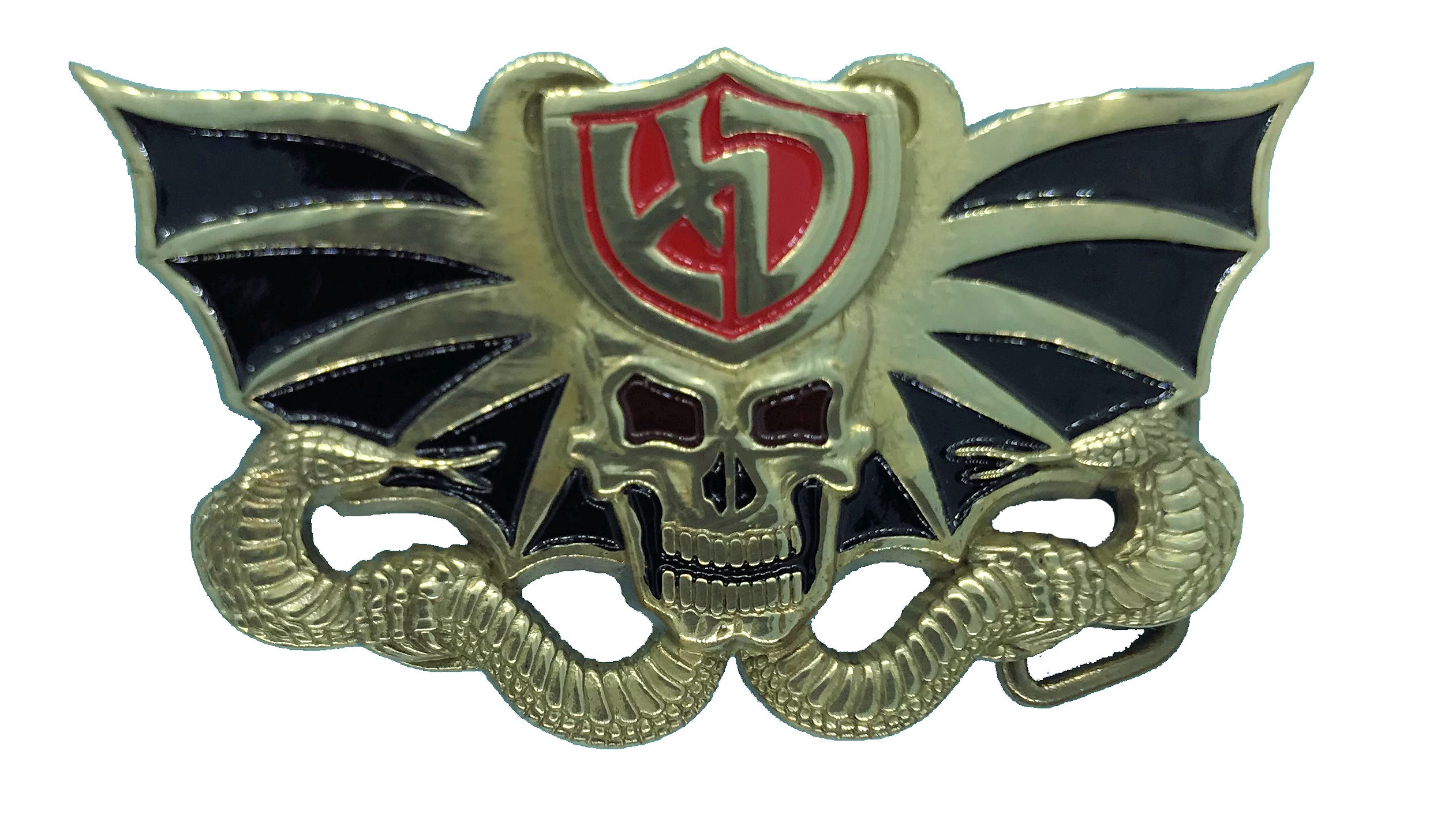 Skull and Cobra Belt buckle
