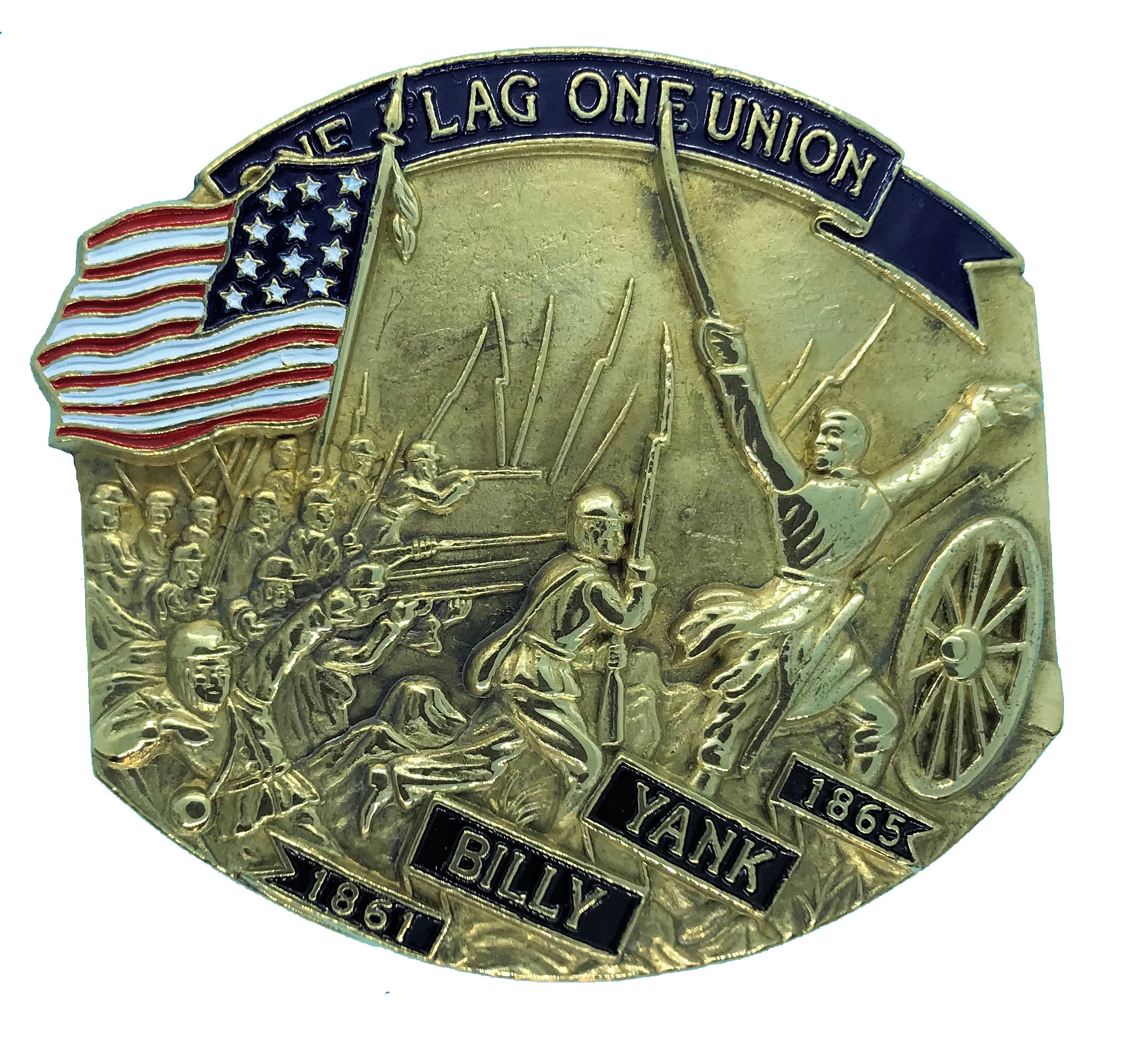 Billy Yank (union) Belt Buckle
