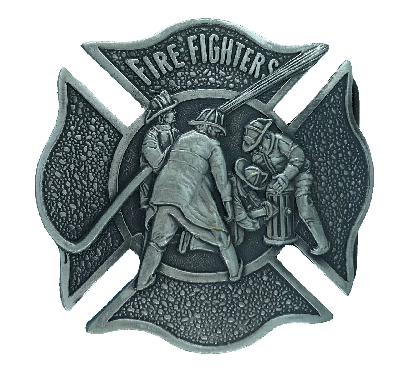 Fire Fighter Brass Buckle