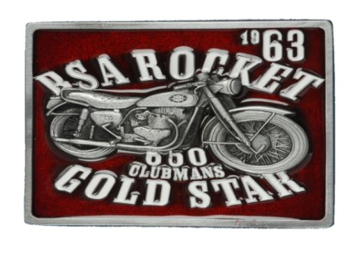 BSA Gold Star (Red) Belt Buckle